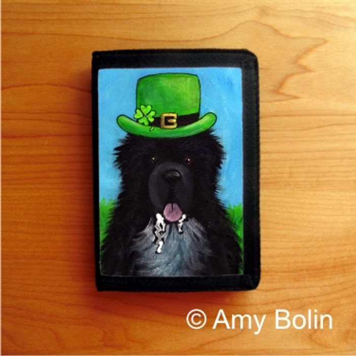 TRIFOLD WALLET · A BIG, WET IRISH KISS · IRISH SPOTTED NEWFOUNDLAND · AMY BOLIN