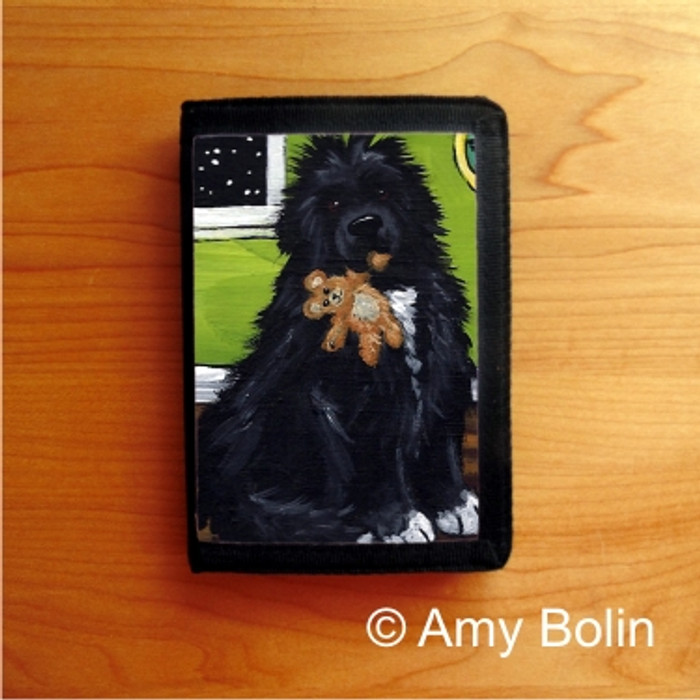 TRIFOLD WALLET · BEDTIME BUDDIES · IRISH SPOTTED NEWFOUNDLAND · AMY BOLIN