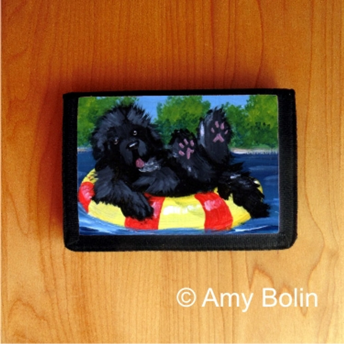 TRIFOLD WALLET · DOG DAYS · BLACK NEWFOUNDLAND · AMY BOLIN