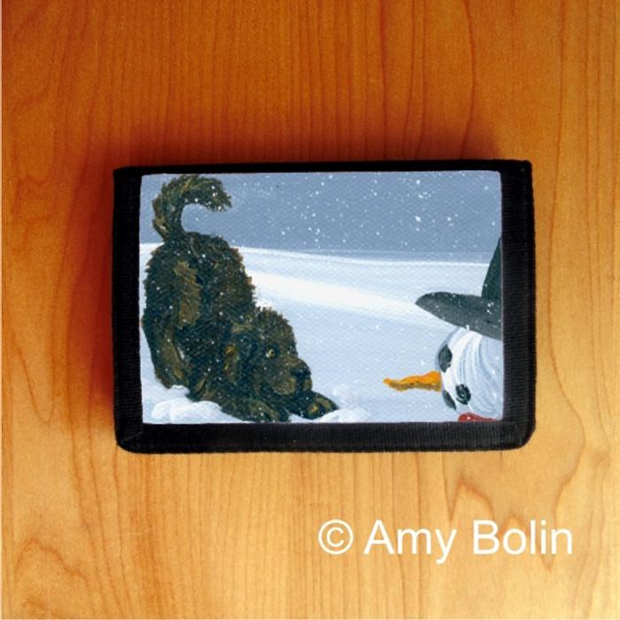 TRIFOLD WALLET · MY SNOWY FRIEND · BROWN NEWFOUNDLAND · AMY BOLIN