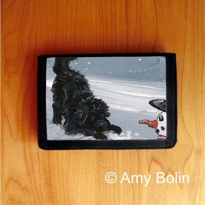 TRIFOLD WALLET · MY SNOWY FRIEND · BLACK NEWFOUNDLAND · AMY BOLIN