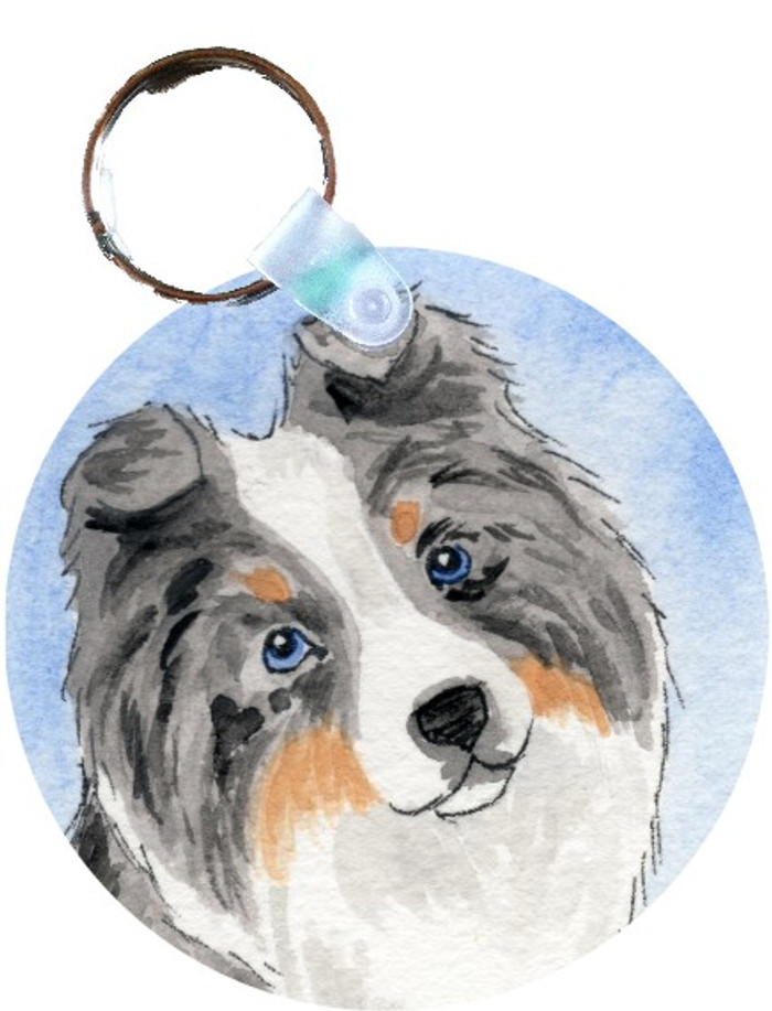 KEY CHAIN · PUPPY LOVE · BLUE MERLE SHELTIE · AMY BOLIN