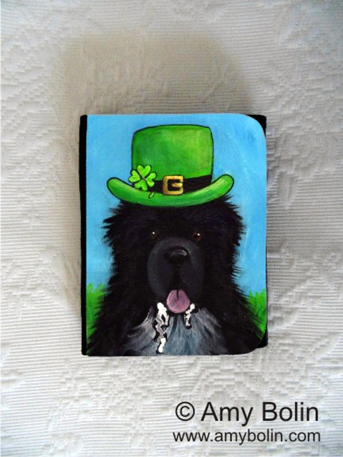 SMALL ORGANIZER WALLET · A BIG, WET IRISH KISS · IRISH SPOTTED NEWFOUNDLAND · AMY BOLIN