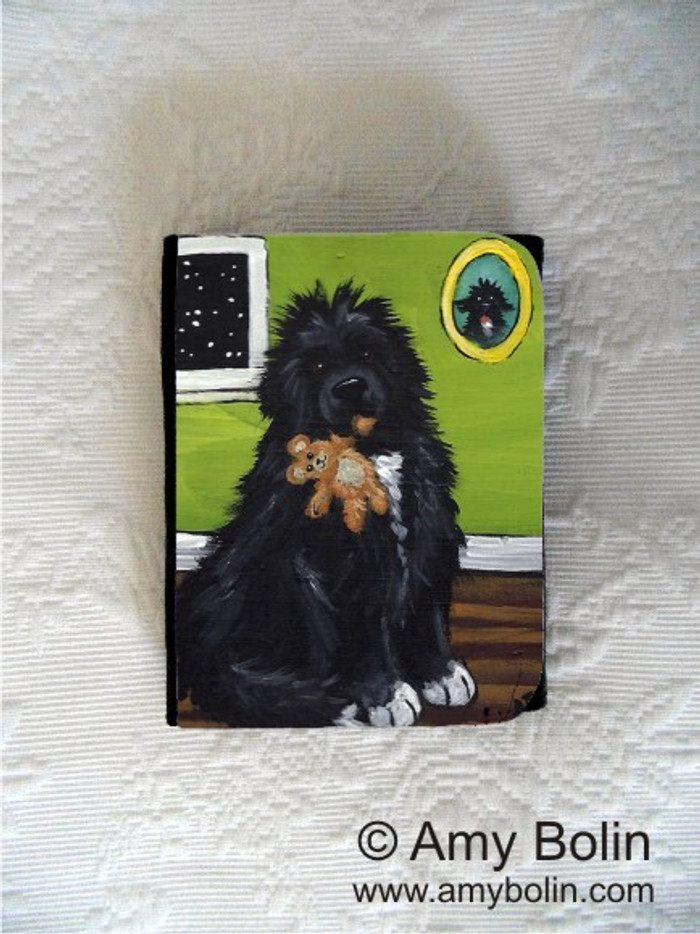 SMALL ORGANIZER WALLET · BEDTIME BUDDIES  · IRISH SPOTTED  NEWFOUNDLAND · AMY BOLIN