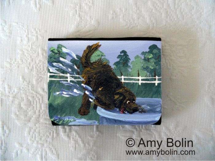 SMALL ORGANIZER WALLET · DIGGIN' IT · BROWN  NEWFOUNDLAND · AMY BOLIN