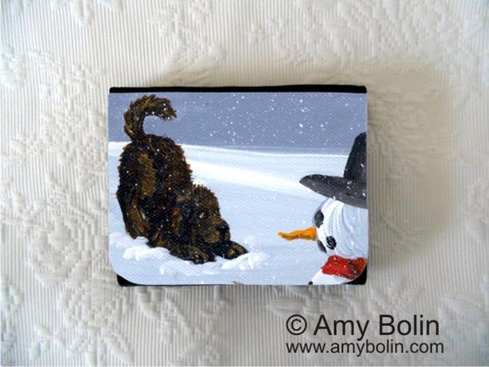 SMALL ORGANIZER WALLET · MY SNOWY FRIEND · BROWN NEWFOUNDLAND · AMY BOLIN