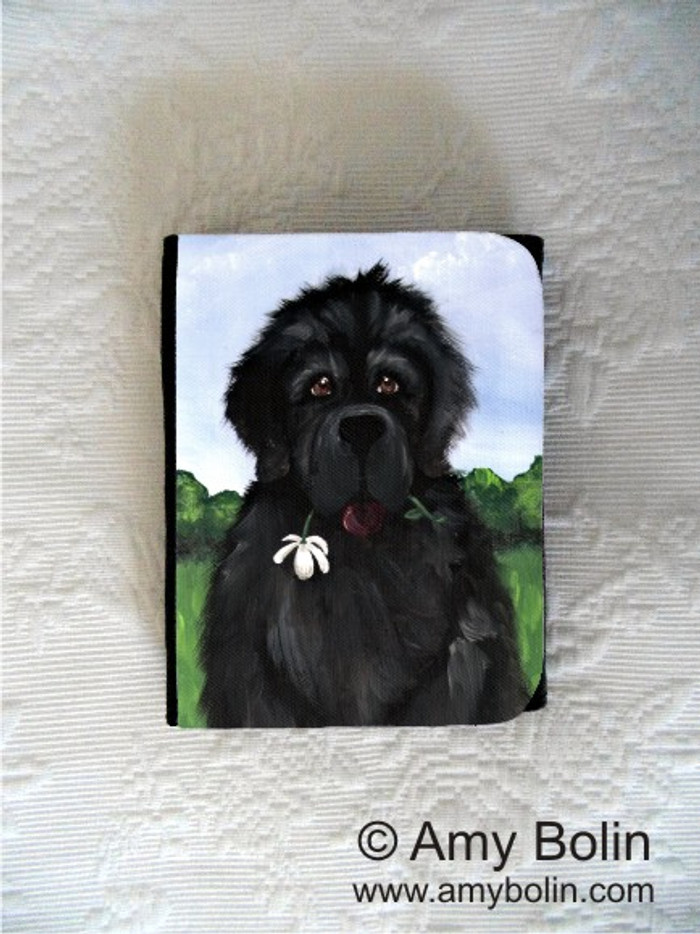 SMALL ORGANIZER WALLET · I SAW THIS FLOWER & THOUGHT OF YOU · BLACK NEWFOUNDLAND · AMY BOLIN