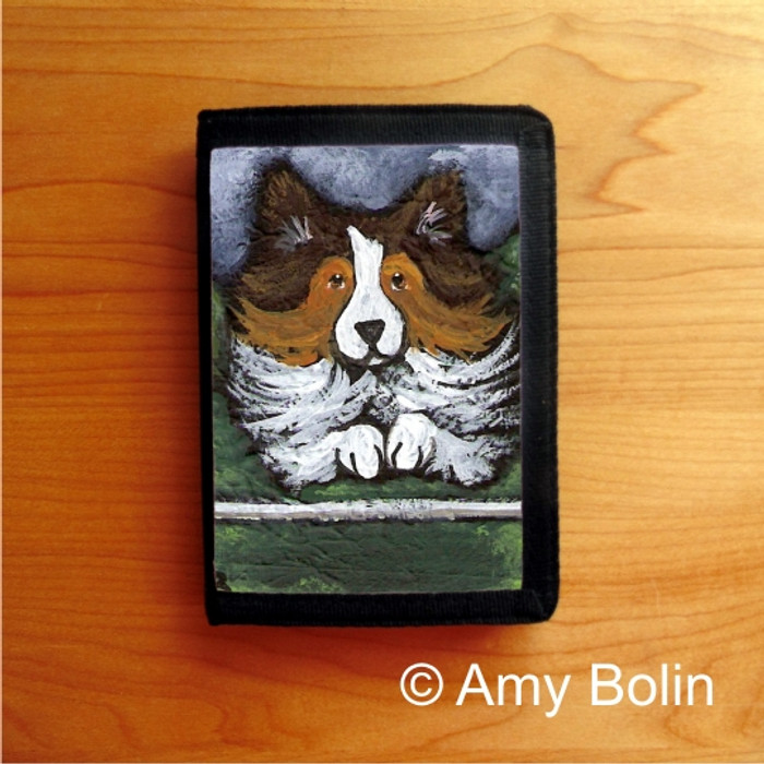 TRIFOLD WALLET · AGILITY QUEEN   · SABLE  SHELTIE · AMY BOLIN