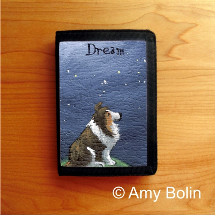 TRIFOLD WALLET · DREAM   · SABLE  SHELTIE · AMY BOLIN