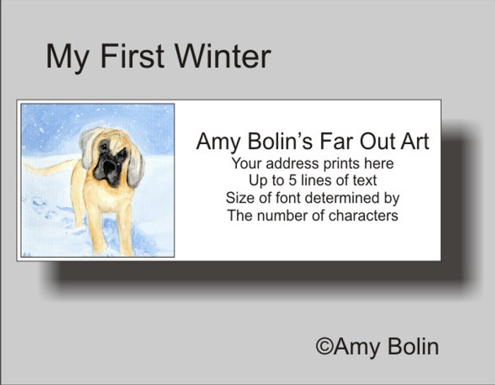 """My First Winter"" Great Dane Address Labels"