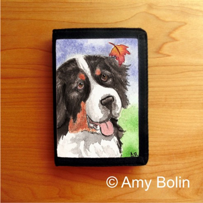 TRIFOLD WALLET · AUTUMN BERNER · BERNESE MOUNTAIN DOG · AMY BOLIN