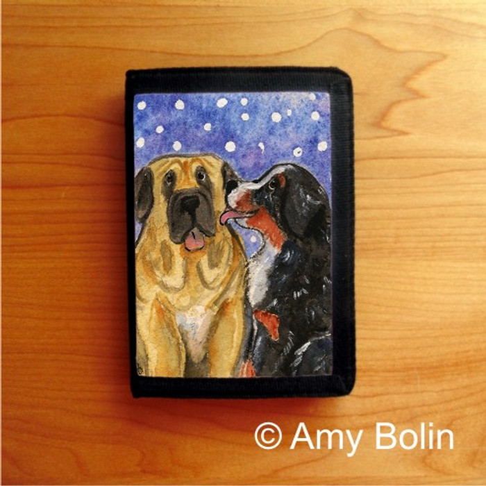 TRIFOLD WALLET · LITTLE KISS · BERNESE MOUNTAIN DOG, MASTIFF · AMY BOLIN