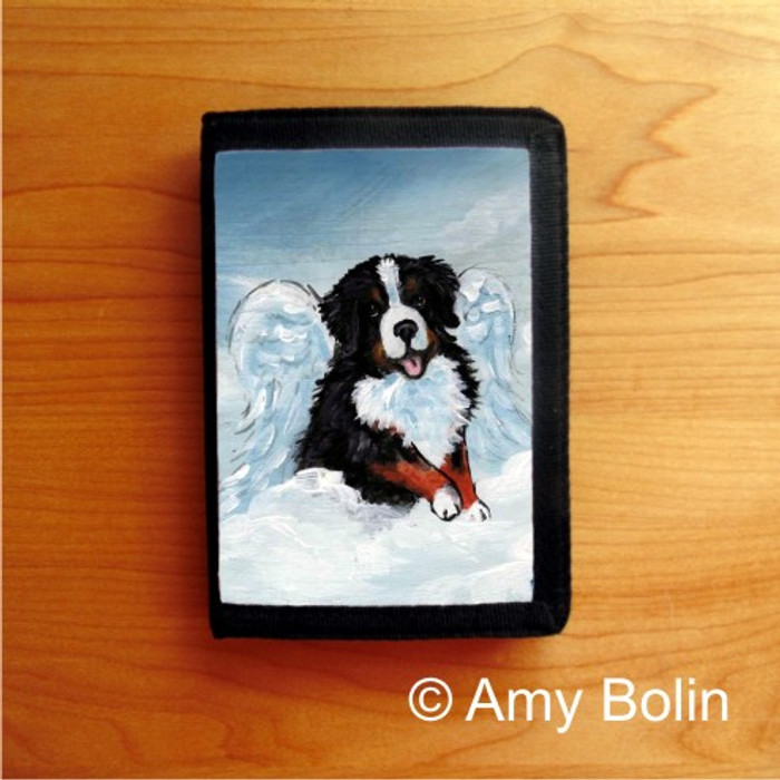 TRIFOLD WALLET · MY SWEET ANGEL    · BERNESE MOUNTAIN DOG    · AMY BOLIN