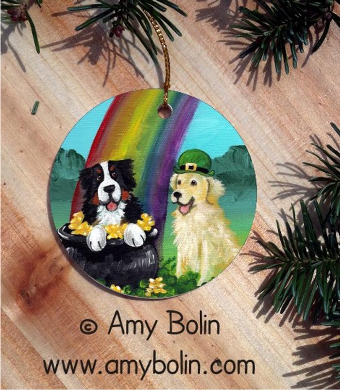 CERAMIC ORNAMENT · MY POT O' GOLD · BERNESE MOUNTAIN DOG · AMY BOLIN