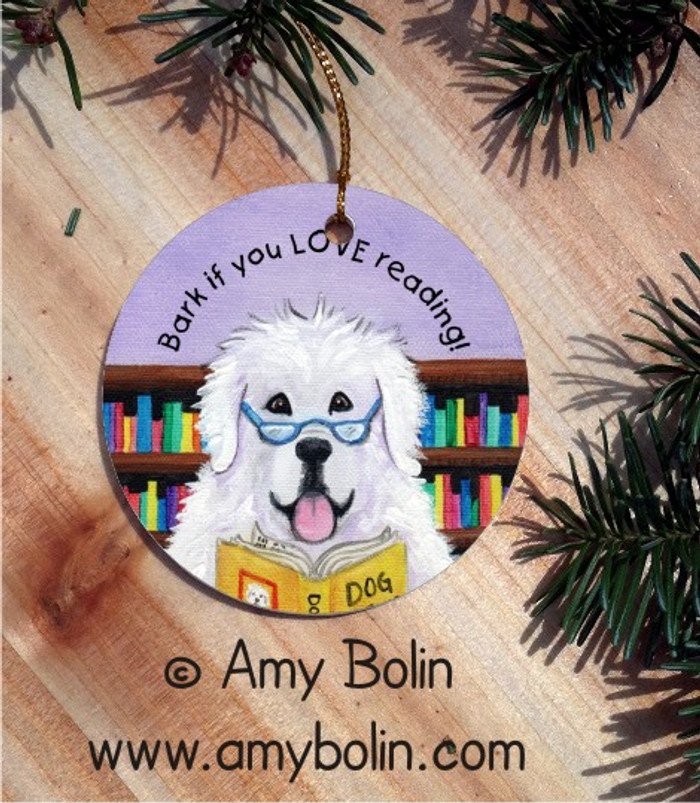 CERAMIC ORNAMENT · DOG TAILS VOL 2 · GREAT PYRENEES · AMY BOLIN