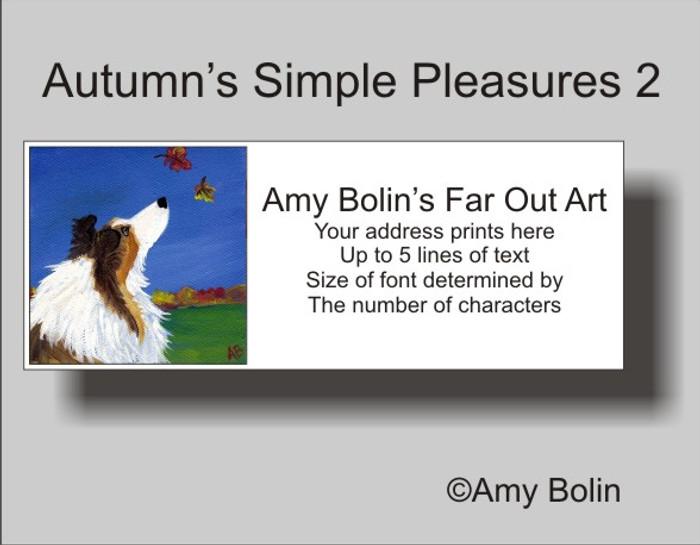 ADDRESS LABELS · AUTUMN'S SIMPLE PLEASURES 2 · SABLE SHELTIE · AMY BOLIN