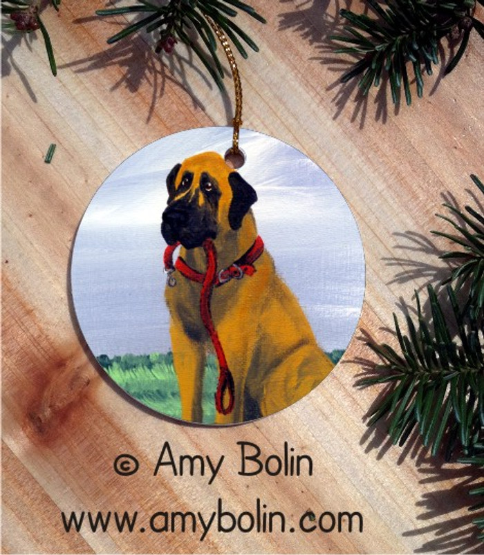 CERAMIC ORNAMENT · LET'S GO  · GREAT DANE · AMY BOLIN