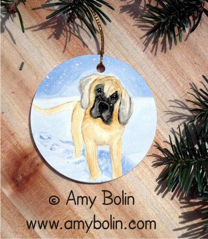 CERAMIC ORNAMENT · MY FIRST WINTER  · GREAT DANE · AMY BOLIN