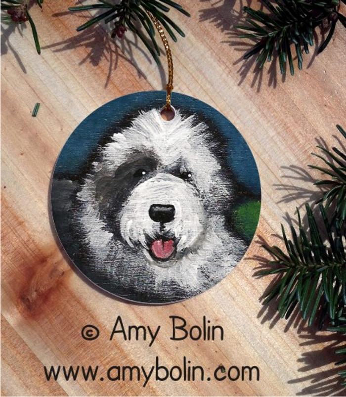 CERAMIC ORNAMENT · TOBY · OLD ENGLISH SHEEPDOG · AMY BOLIN