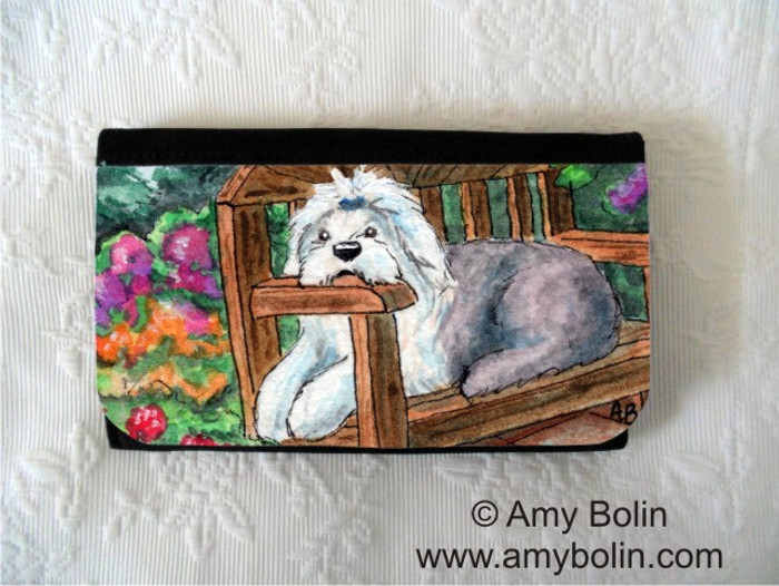 LARGE ORGANIZER WALLET · SUMMER'S SIMPLE PLEASURES   · OLD ENGLISH SHEEPDOG · AMY BOLIN