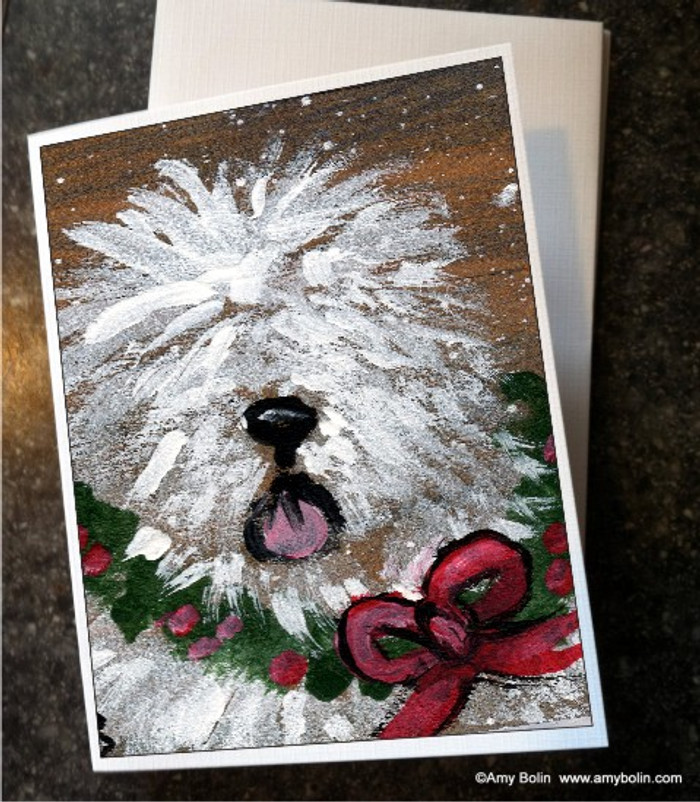 NOTE CARDS · CHRISTMAS TRADITIONS · OLD ENGLISH SHEEPDOG · AMY BOLIN