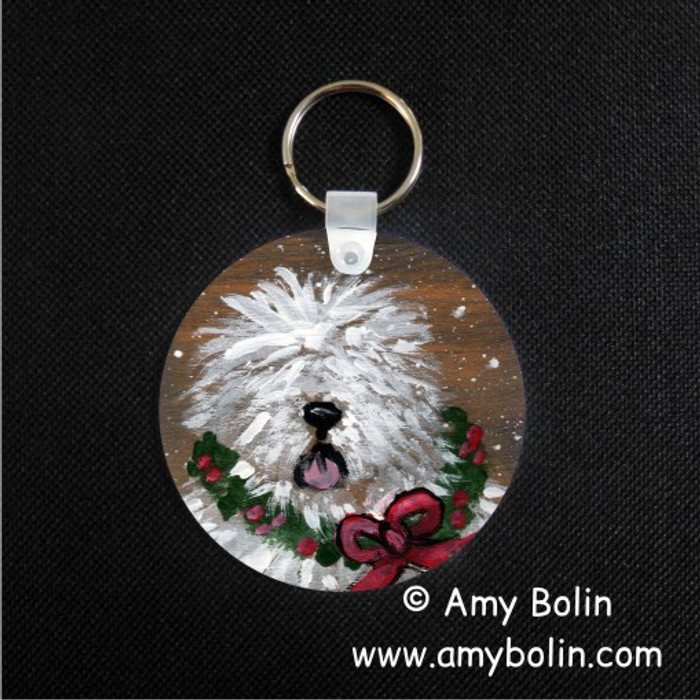 KEY CHAIN · CHRISTMAS TRADITIONS · OLD ENGLISH SHEEPDOG · AMY BOLIN