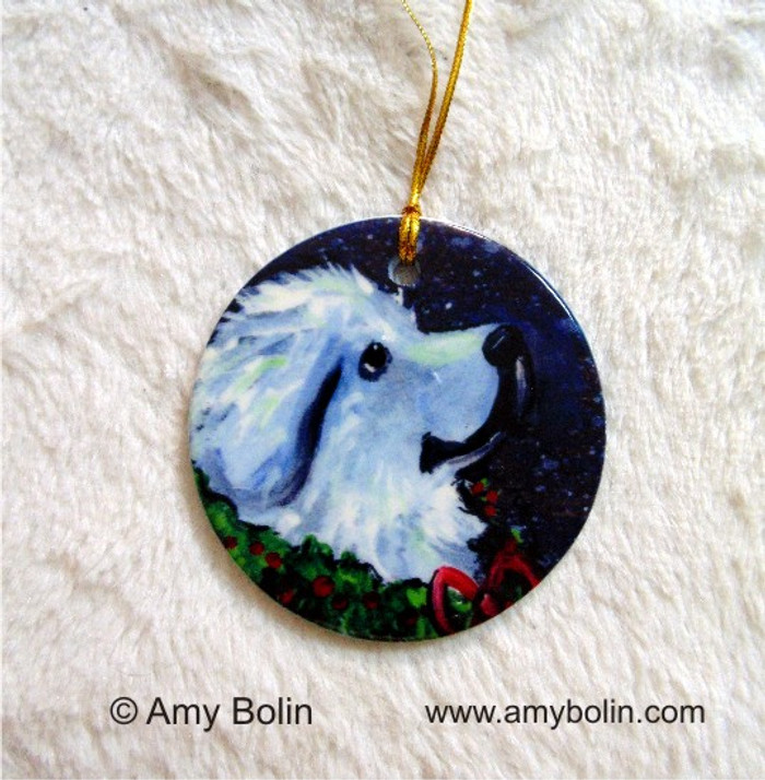 CERAMIC ORNAMENT · CHRISTMAS TRADITIONS · GREAT PYRENEES · AMY BOLIN