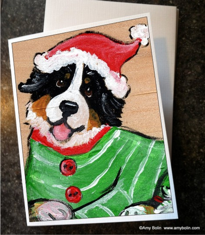NOTE CARDS · CHRISTMAS CUDDLIES · BERNESE MOUNTAIN DOG · AMY BOLIN