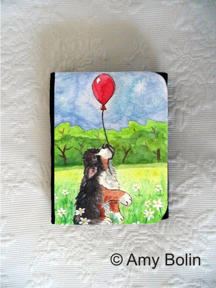 SMALL ORGANIZER WALLET · FLY AWAY  · BERNESE MOUNTAIN DOG  · AMY BOLIN