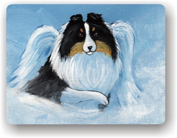 MAGNET · MY SWEET ANGEL · TRI COLOR SHELTIE · AMY BOLIN