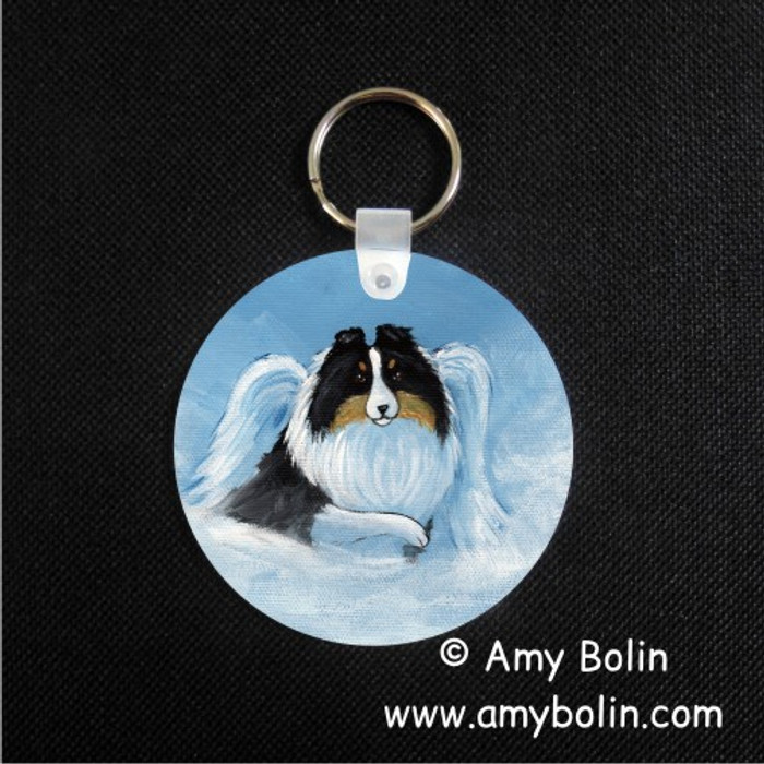 KEY CHAIN · MY SWEET ANGEL · TRI COLOR SHELTIE · AMY BOLIN