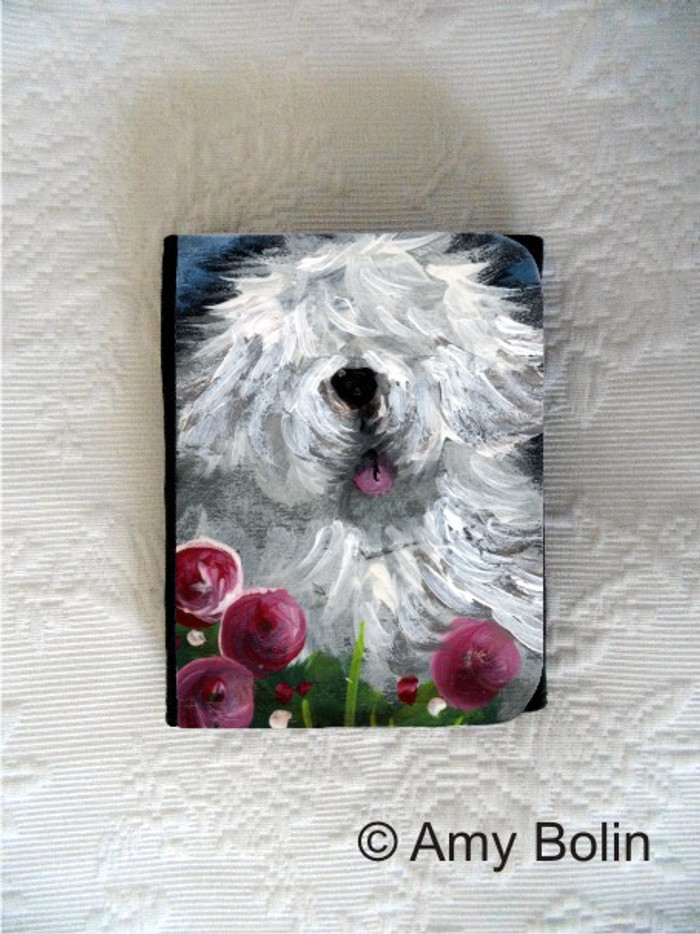 SMALL ORGANIZER WALLET · MOM'S FAVORITE FLOWER  · OLD ENGLISH SHEEPDOG · AMY BOLIN