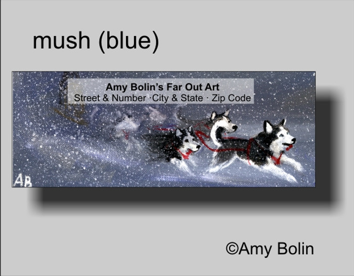 """Mush (Blue Eyes)"" Siberian Husky Address Labels"