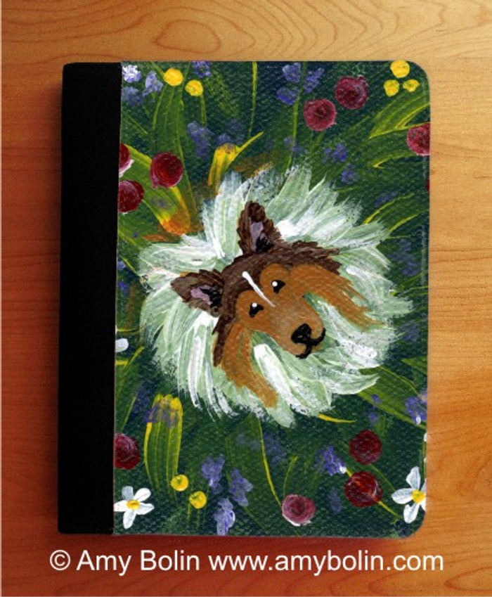 NOTEBOOKS (SEVERAL SIZES AVAILABLE) · IN MOM'S FLOWERS AGAIN! · SABLE SHELTIE · AMY BOLIN