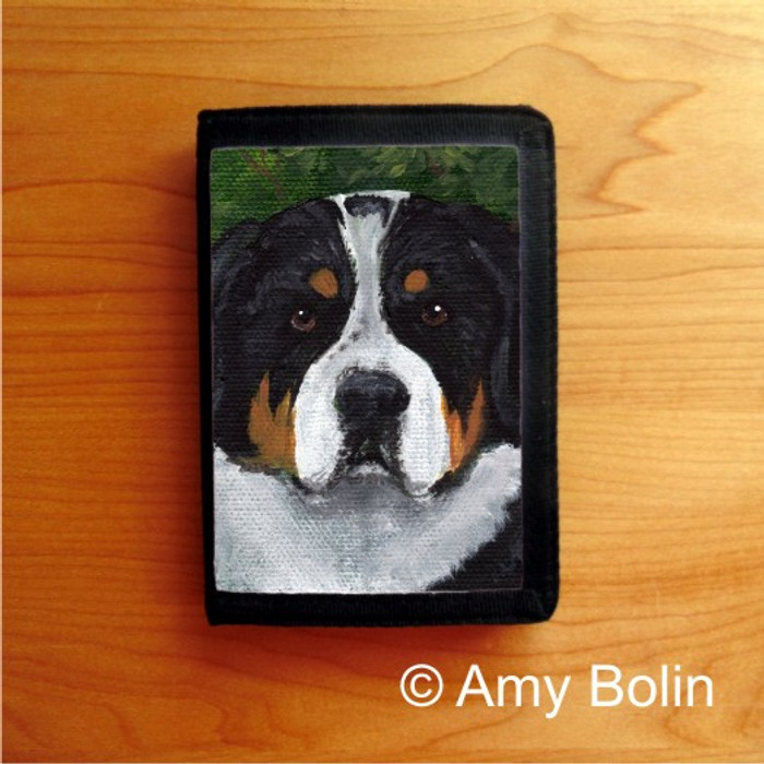 TRIFOLD WALLET · PIPER · GREATER SWISS MOUNTAIN DOG · AMY BOLIN