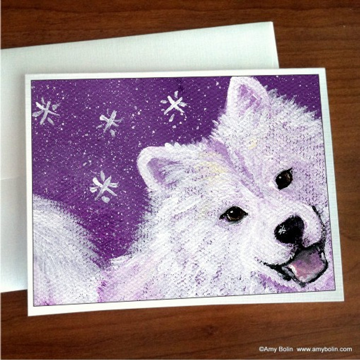 NOTE CARDS · WISH UPON A SNOWFLAKE · SAMOYED · AMY BOLIN