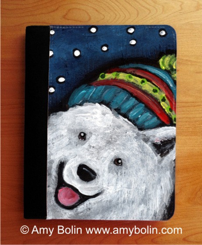 NOTEBOOKS (SEVERAL SIZES AVAILABLE) · SNOWY WEATHER · SAMOYED · AMY BOLIN