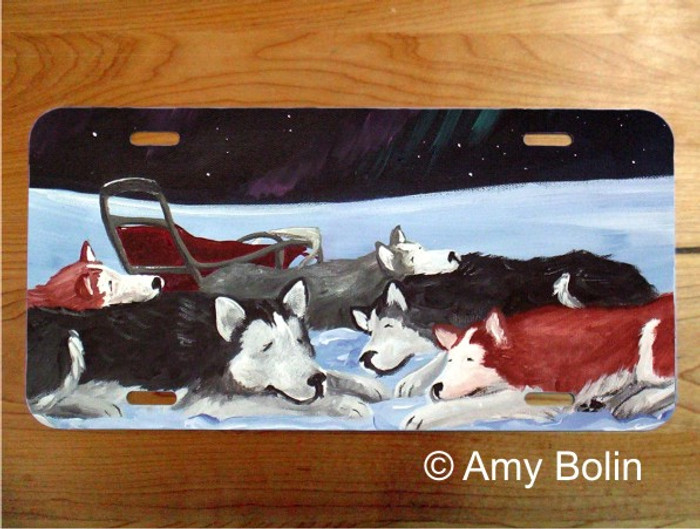 LICENSE PLATE · SWEET DREAMS ·  HUSKY · AMY BOLIN