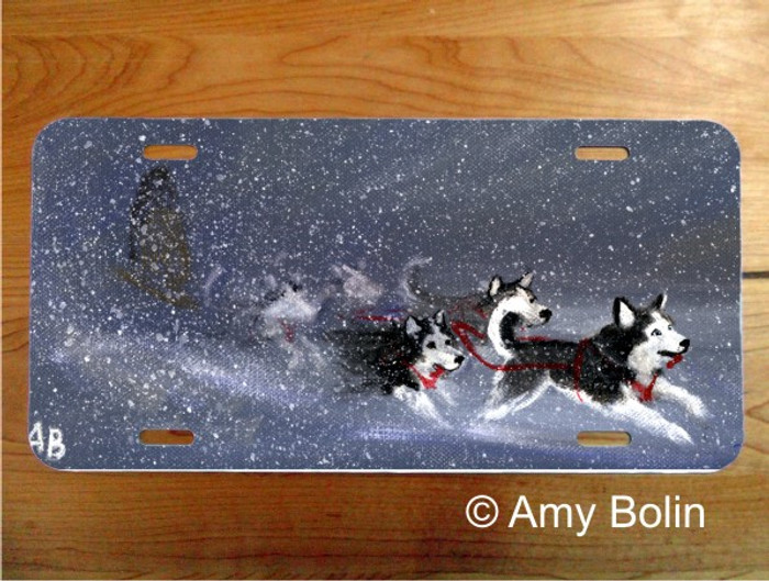 LICENSE PLATE · MUSH ·  HUSKY · AMY BOLIN