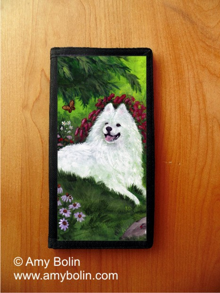 CHECKBOOK COVER · SUMMER BLISS · SAMOYED · AMY BOLIN