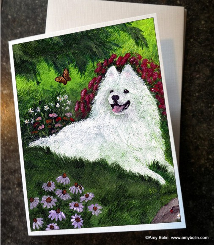 NOTE CARDS · SUMMER BLISS · SAMOYED · AMY BOLIN