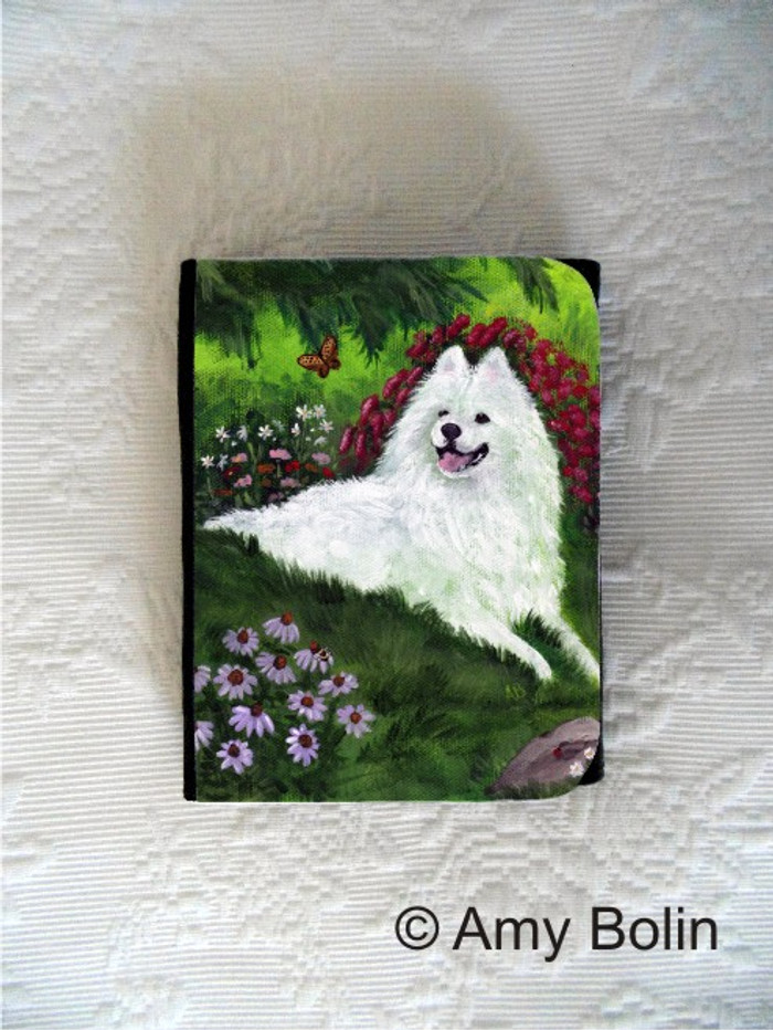 SMALL ORGANIZER WALLET · SUMMER BLISS · SAMOYED · AMY BOLIN