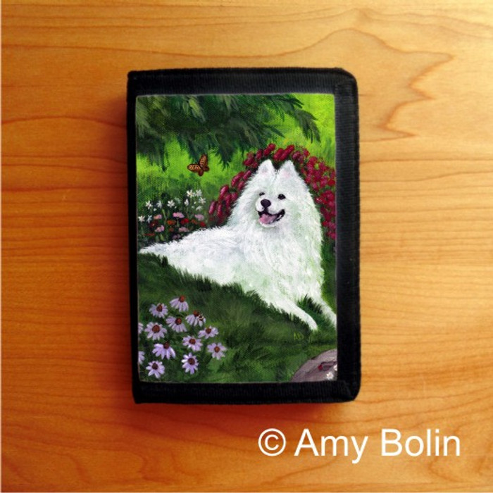 TRIFOLD WALLET · SUMMER BLISS · SAMOYED · AMY BOLIN