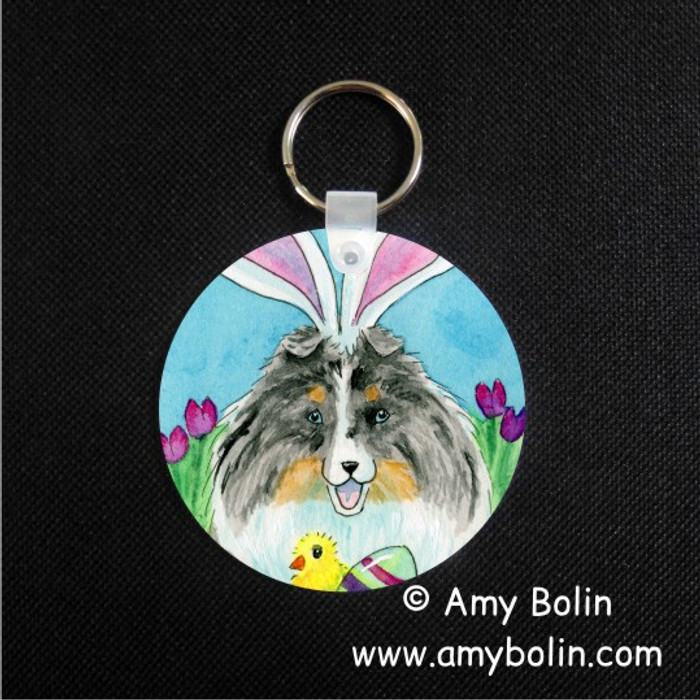 KEY CHAIN · EASTER SHELTIE · BLUE MERLE SHELTIE · AMY BOLIN