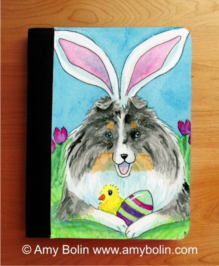 NOTEBOOKS (SEVERAL SIZES AVAILABLE) · EASTER SHELTIE · BLUE MERLE SHELTIE · AMY BOLIN