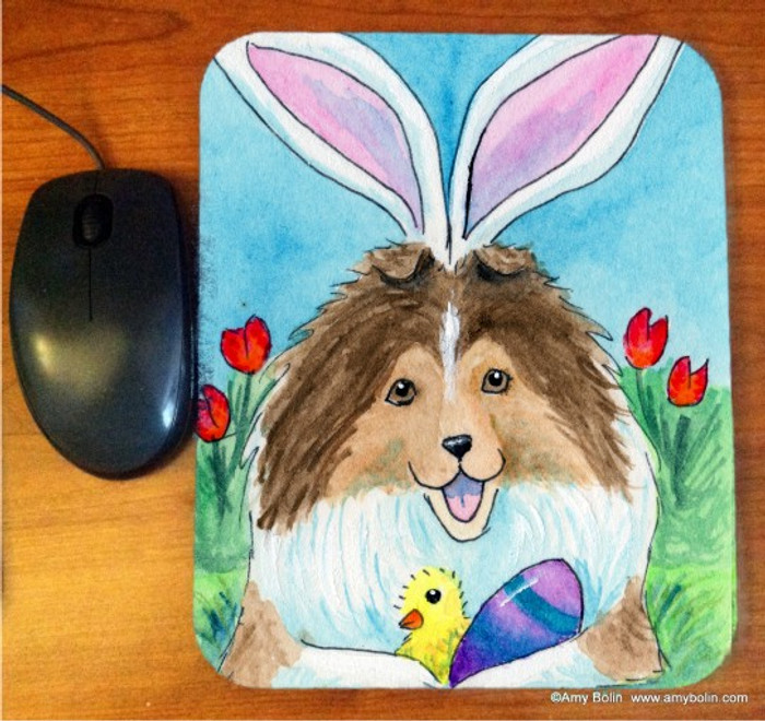 MOUSE PAD · EASTER SHELTIE · SABLE SHELTIE · AMY BOLIN