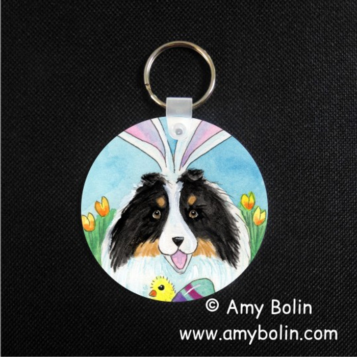 KEY CHAIN · EASTER SHELTIE · TRI COLOR SHELTIE · AMY BOLIN