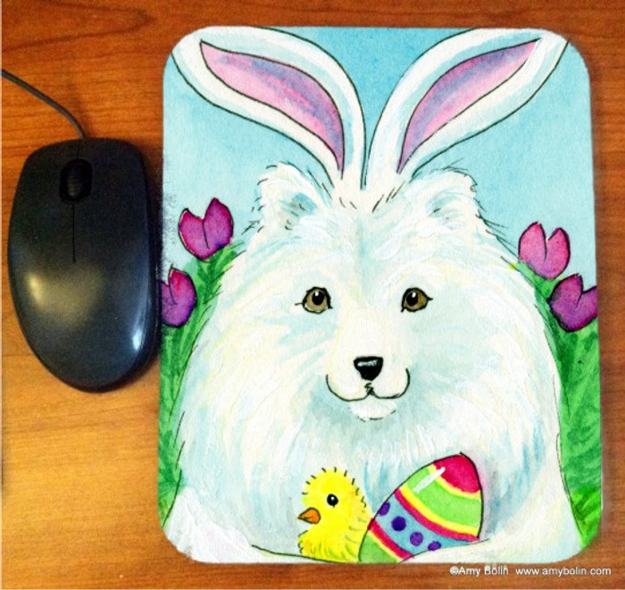 MOUSE PAD · EASTER SAMMY · SAMOYED · AMY BOLIN