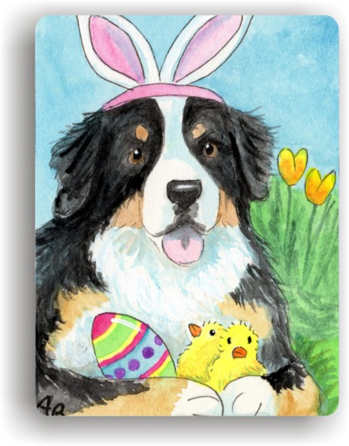 MAGNET · EASTER BERNIE · BERNESE MOUNTAIN DOG · AMY BOLIN