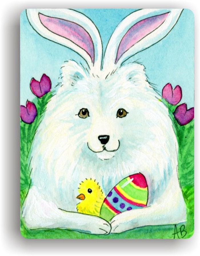 MAGNET · EASTER SAMMY · SAMOYED · AMY BOLIN
